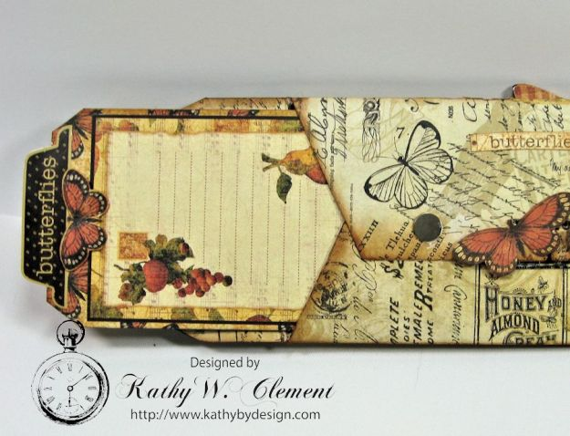 GSL Steampunk Butterfly Gift Wallet Tutorial by Kathy Clement for Gypsy Soul Laser Cuts Product by Graphic 45 DIY and Botanicabella Papers 08