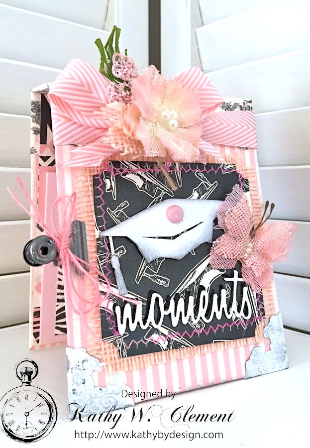 Graduation Folio by Kathy Clement for Petaloo Canvas Corp Blog Hop 01