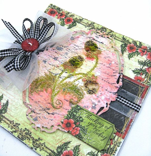 HC June Alumni Hop Blazing Poppy Card by Kathy Clement Photo 1