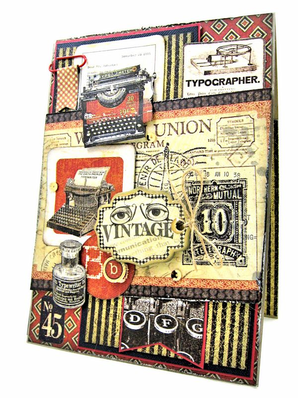 Masculine Belated Birthday Card, Communique,, by Kathy Clement, Product by Graphic 45, 2