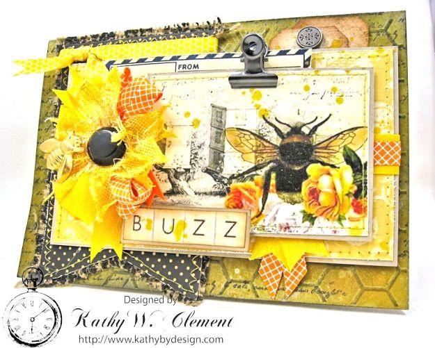 Orange Blossom Honey Gift Ensemble by Kathy Clement for Really Reasonable Ribbon Bees Knees Creativity Kit  from Polly's Paper Studio Etsy 06