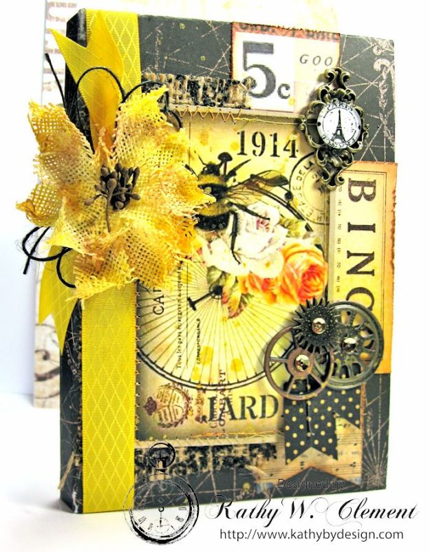 Orange Blossom Honey Gift Ensemble by Kathy Clement for Really Reasonable Ribbon Bees Knees Creativity Kit  from Polly's Paper Studio Etsy 07