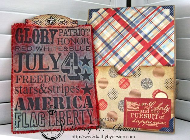Together We Stand 4th of July Card by Kathy Clement for Petaloo International Product Authentique Honor Photo 4