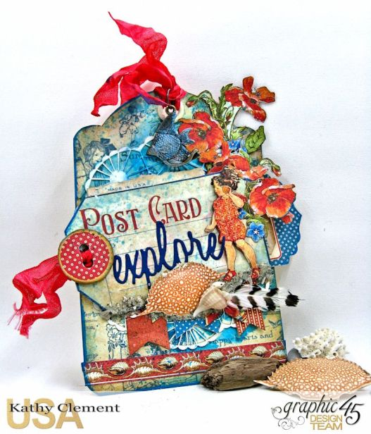 Sea Dreams Tag, Children's Hour, by Kathy Clement, Product by Graphic 45 Photo 1