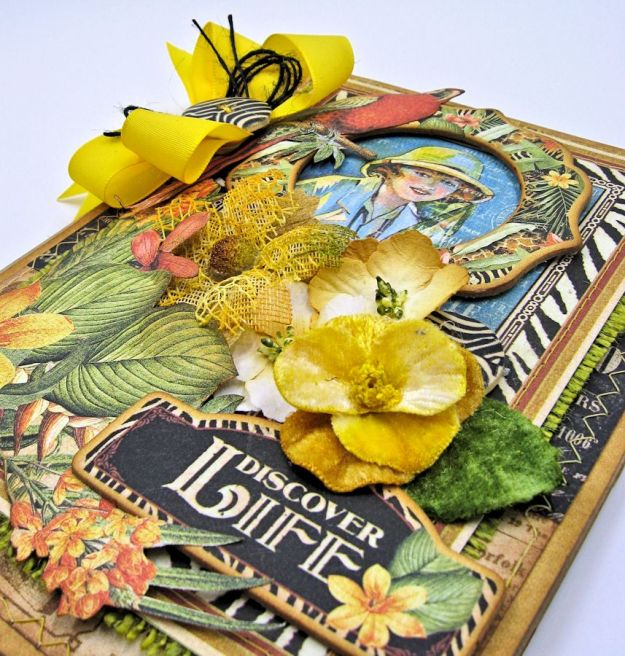 Safari Adventure Pocket Card Snapguide Tutorial by Kathy Clement Graphic 45 Safari Adventure Photo 4