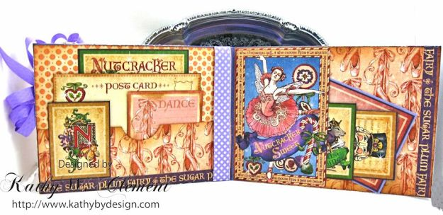 Nutcracker Sweet Pink and Purple Card by Kathy Clement for Really Reasonable Ribbon Challenge Product by RRR and Graphic 45 Photo 4