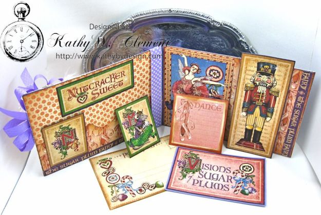 Nutcracker Sweet Pink and Purple Card by Kathy Clement for Really Reasonable Ribbon Challenge Product by RRR and Graphic 45 Photo 5