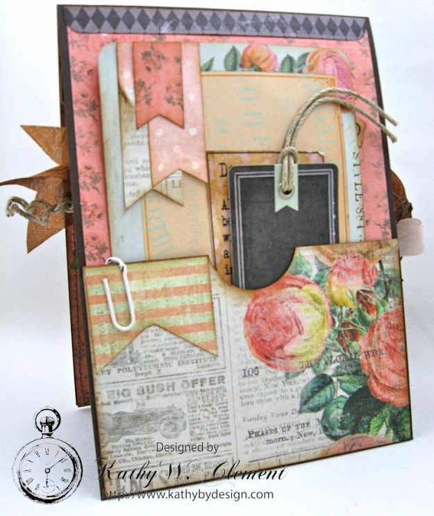 You're in My Thoughts Pocket Card by Kathy Clement for Really Reasonable Ribbon Product by Prima Something Blue Photo 5