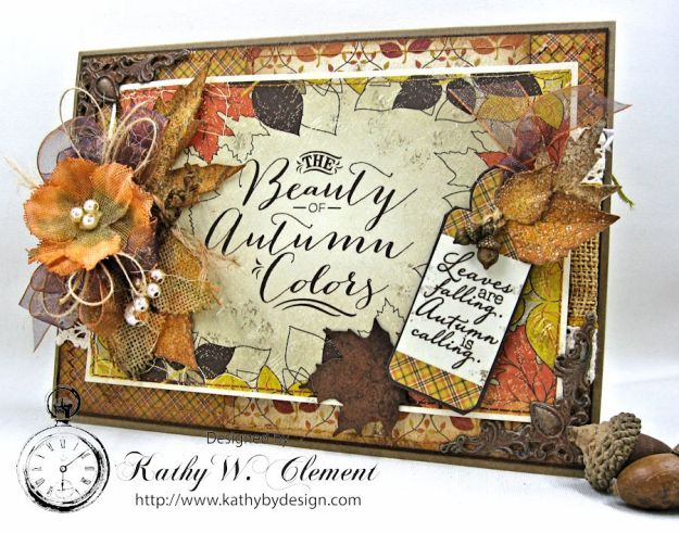 Beautiful Autumn Colors Card, Harvest, by Kathy Clement for RRR Autumn Colors Challenge, Product by Authentique, Photo 3