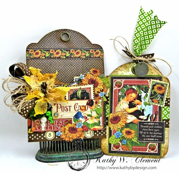 Children's Hour Tag Pocket with Tag by Kathy Clement for Really Reasonable Ribbon, Product by Graphic 45 Photo 2