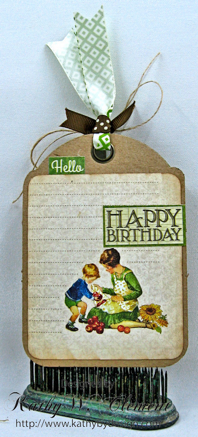 Children's Hour Tag Pocket with Tag by Kathy Clement for Really Reasonable Ribbon, Product by Graphic 45 Photo 3