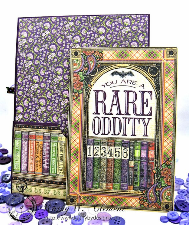 Frightfully Sweet Halloween Card, Rare Oddities, by Kathy Clement for Really Reasonable Ribbon, Product by Graphic 45 Photo 6