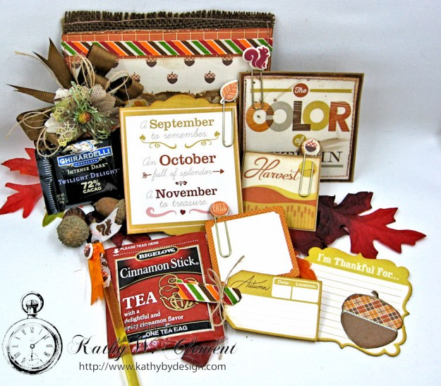 Just a Hint of Fall Paper Bag Pocket by Kathy Clement for Really Reasonable Ribbon Product October Afternoon Apple Cider Photo 2