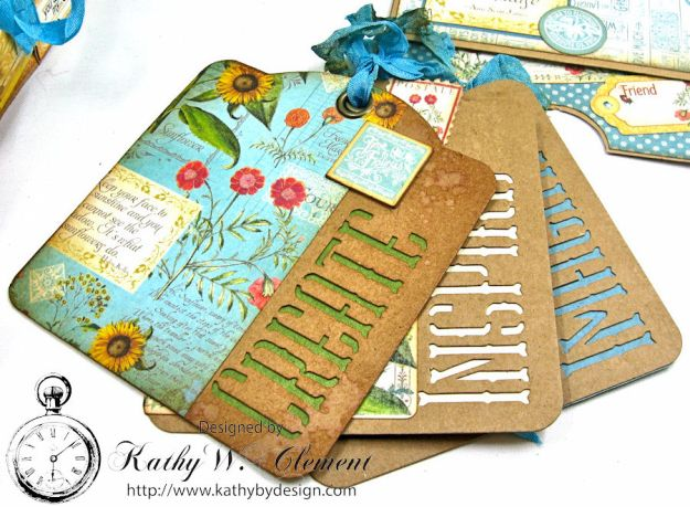 Sunflowers Mini Album, Time to Flourish, by Kathy Clement for Frilly and Funkie Floral Infatuation Challenge, Product by Graphic 45, Photo 12