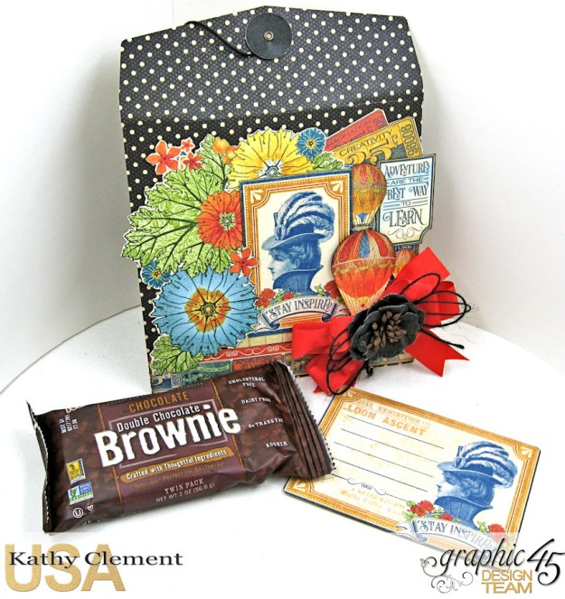 World's Fair Sweet Treat Bag Tutorial, World's Fair, Policy Envelopes, by Kathy Clement, Product by Graphic 45, Photo 5