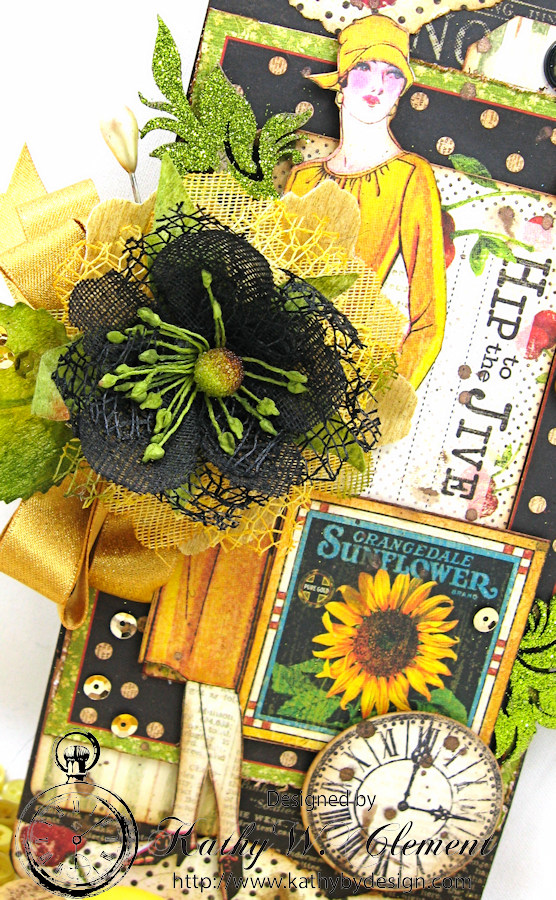 Times Nouveau Tag by Kathy Clement for Really Reasonable Ribbon Buttons and Bows Challenge, Product by Graphic 45, Photo 3