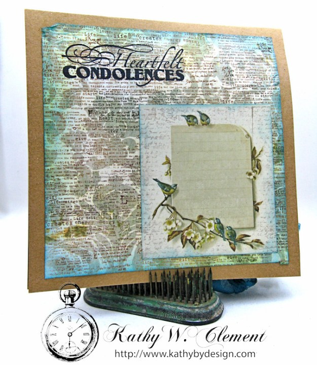 You're in My Heart Sympathy Card by Kathy Clement for Really Reasonable Ribbon, Product by Really Reasonable Ribbon and Canvas Corp Brands Photo 5