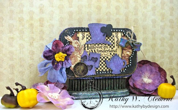Altered Altoids Tin, Halloween in Wonderland, by Kathy Clement for Gypsy Soul Laser Cuts, Product by Graphic 45, Photo 1