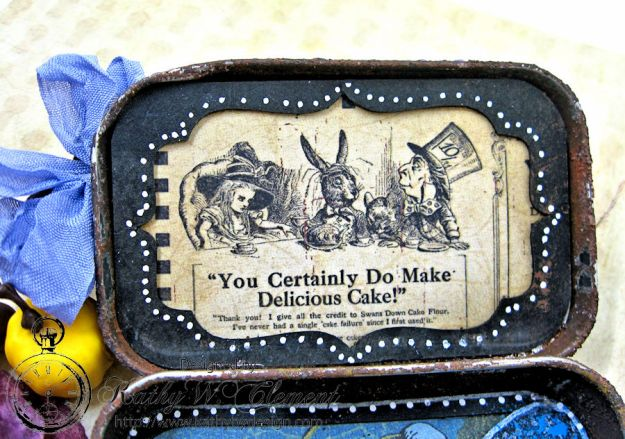 Altered Altoids Tin, Halloween in Wonderland, by Kathy Clement for Gypsy Soul Laser Cuts, Product by Graphic 45, Photo 10