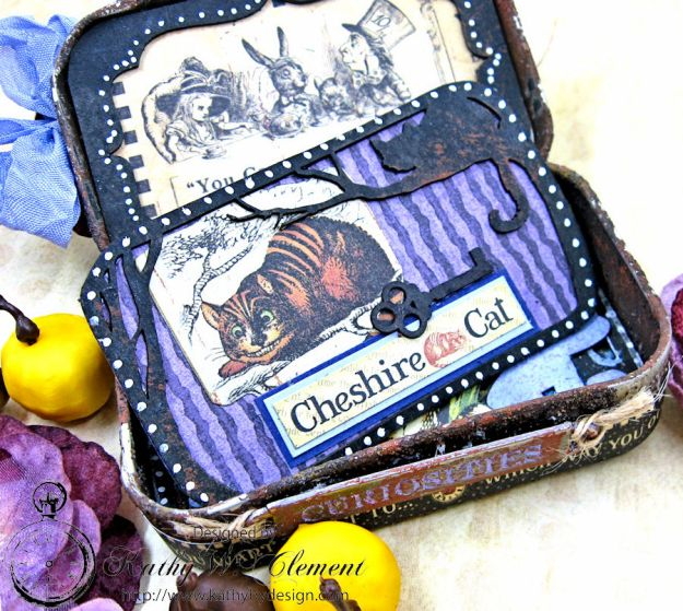 Altered Altoids Tin, Halloween in Wonderland, by Kathy Clement for Gypsy Soul Laser Cuts, Product by Graphic 45, Photo 7