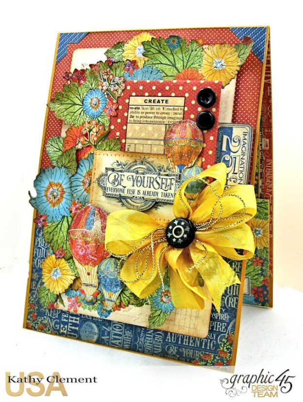 Ladies and Gents Birthday Card Tutorial, World's Fair, by Kathy Clement Product by Graphic 45, Photo 2