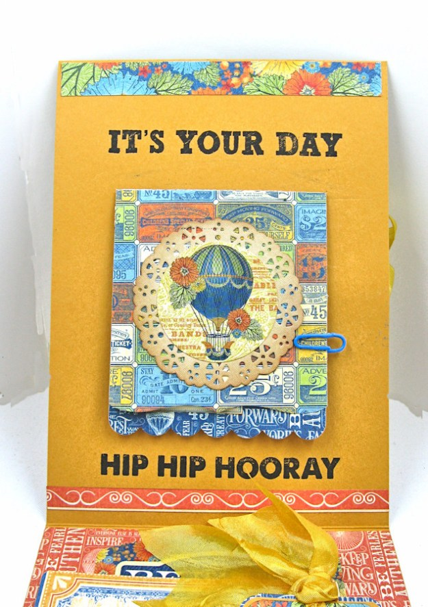 Ladies and Gents Birthday Card Tutorial, World's Fair, by Kathy Clement Product by Graphic 45, Photo 7
