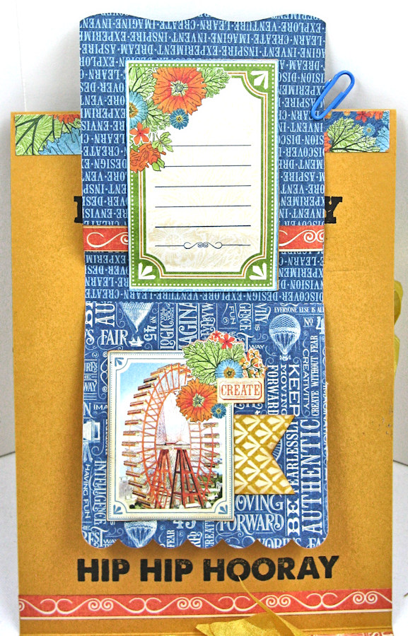 Ladies and Gents Birthday Card Tutorial,, World's Fair, by Kathy Clement Product by Graphic 45, Photo 8