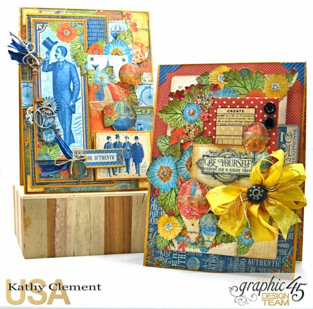 Ladies and Gents Birthday Card Tutorial, World's Fair, by Kathy Clement, Product by Graphic 45 Photo 1