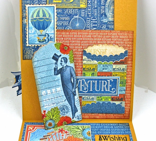 Ladies and Gents Birthday Card Tutorial, World's Fair, by Kathy Clement, Product by Graphic 45 Photo 9