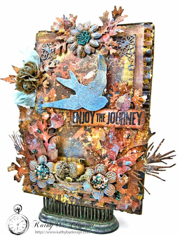 The Last Leaf Mixed Media Canvas for Author, Author Challenge at Frilly and Funkie photo-3