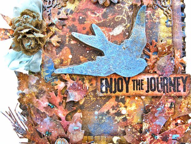 The Last Leaf Mixed Media Canvas for Author, Author Challenge at Frilly and Funkie photo-4
