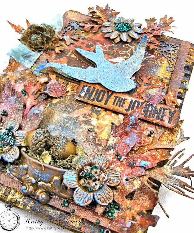 The Last Leaf Mixed Media Canvas for Author, Author Challenge at Frilly and Funkie photo-5