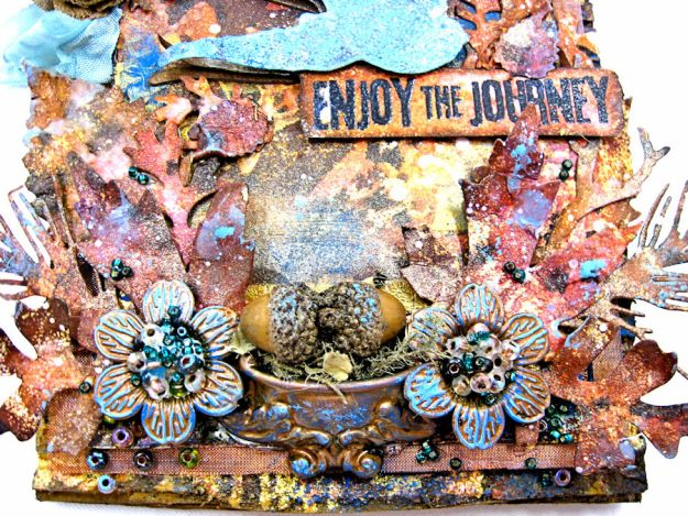 The Last Leaf Mixed Media Canvas for Author, Author Challenge at Frilly and Funkie-photo-8