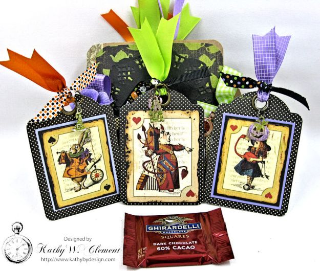 Trick or Treat Tag Album, Halloween in Wonderland, by Kathy Clement for RRR, Product by Graphic 45, Photo 2