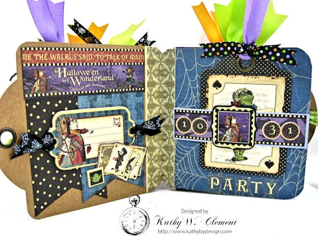 Trick or Treat Tag Album, Halloween in Wonderland, by Kathy Clement for RRR, Product by Graphic 45, Photo 5