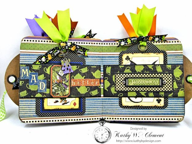 Trick or Treat Tag Album, Halloween in Wonderland, by Kathy Clement for RRR, Product by Graphic 45, Photo 7