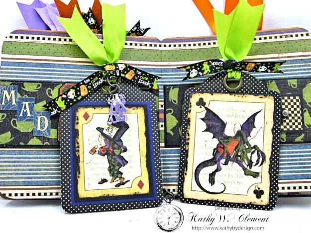 Trick or Treat Tag Album, Halloween in Wonderland, by Kathy Clement for RRR, Product by Graphic 45, Photo 8