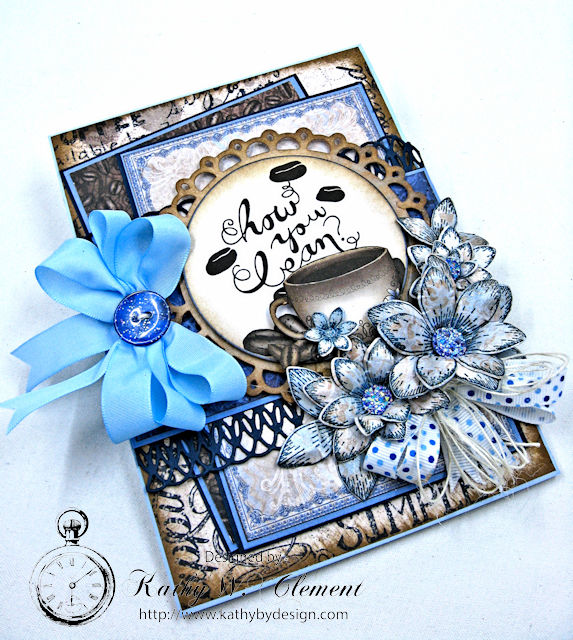 Coffee Talk Card Tutorial by Kathy Clement