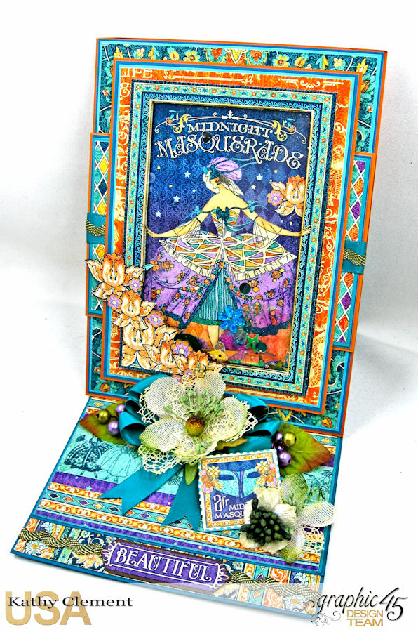 Midnight Masquerade Birthday Shaker Card, Midnight Masquerade, by Kathy Clement, Product by Graphic 45, Photo 1
