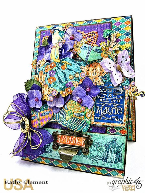Magical Masquerade Ball Invitation, Midnight Masquerade, by Kathy Clement, Product by Graphic 45, Photo 1