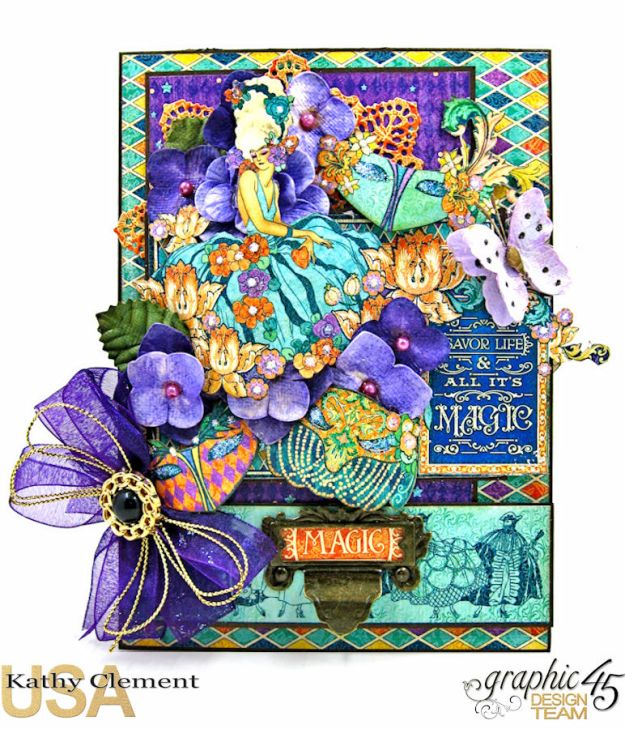 Magical Masquerade Ball Invitation, Midnight Masquerade, by Kathy Clement, Product by Graphic 45, Photo 2