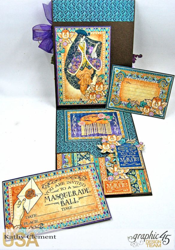 Magical Masquerade Ball Invitation, Midnight Masquerade, by Kathy Clement, Product by Graphic 45, Photo 7