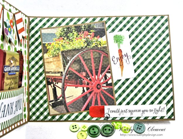 Garden Green Pocket Card with Carta Bella Homegrown by Kathy Clement Photo 6