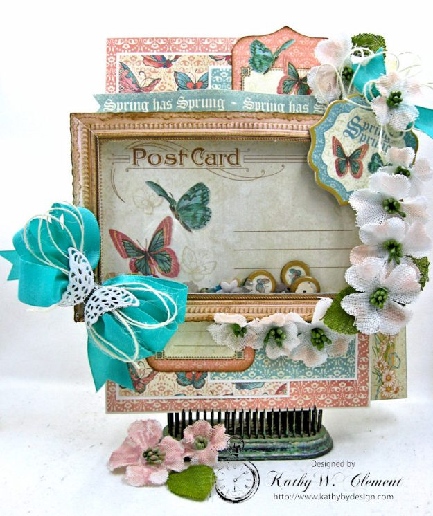 Spring Has Sprung Easter Shaker card by Kathy Clement Photo 2