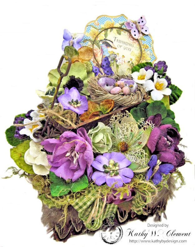 Love Warms Every Nest Springtime Vignette by Kathy Clement for Petaloo International Photo 6