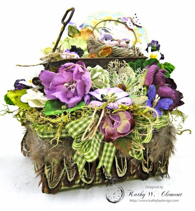 Love Warms Every Nest Springtime Vignette by Kathy Clement for Petaloo International Photo 3
