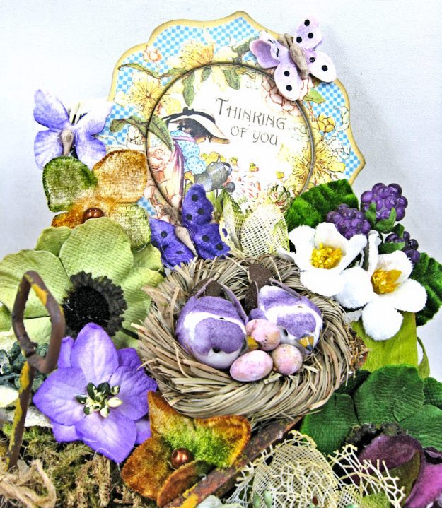 Love Warms Every Nest Springtime Vignette by Kathy Clement for Petaloo International Photo  4