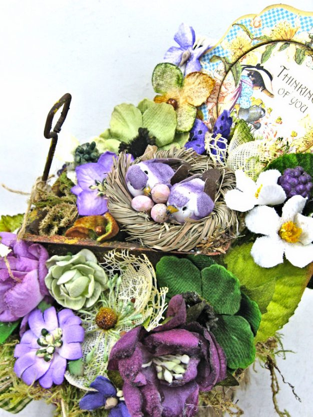 Love Warms Every Nest Springtime Vignette by Kathy Clement for Petaloo International Photo  5