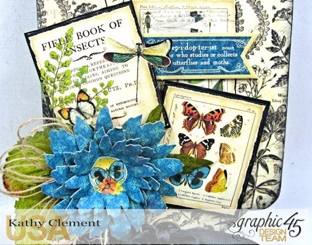 Nature Sketchbook Upcycled Butterfly Notepad Tutorial Nature Sketchbook by Kathy Clement Product by Graphic 45 Photo 4
