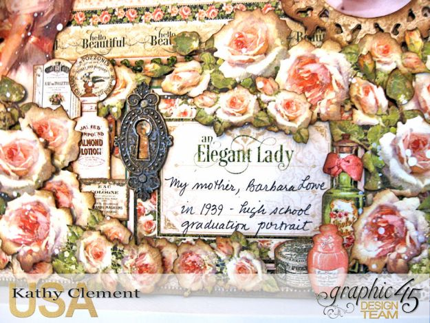 Elegant Lady Layout by Kathy Clement with Graphic 45 Portrait of a Lady Photo 4